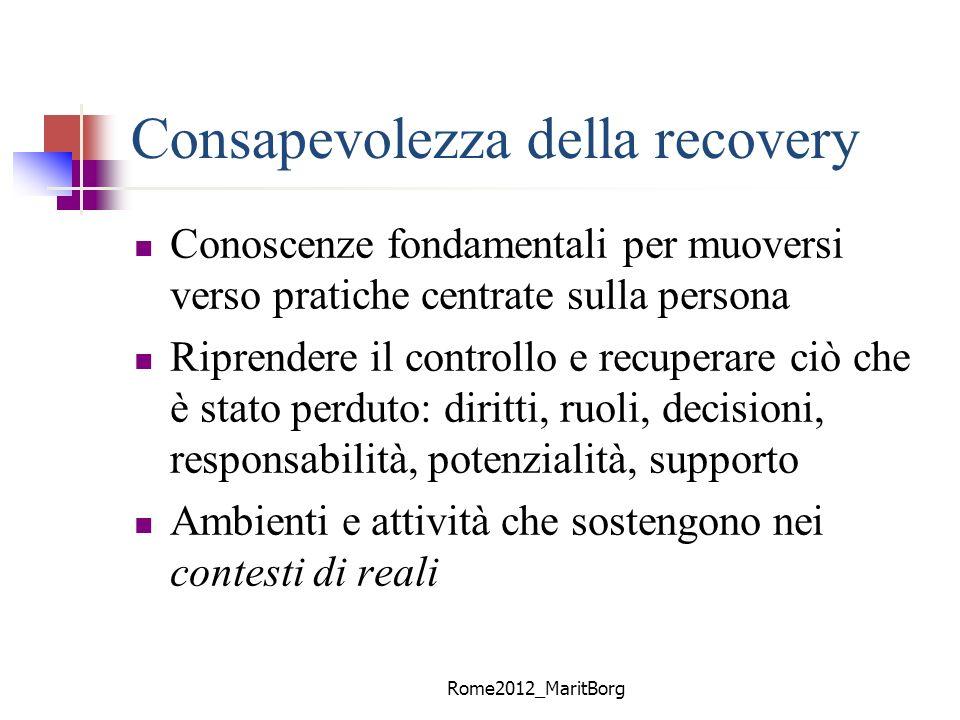 Consapevolezza della recovery