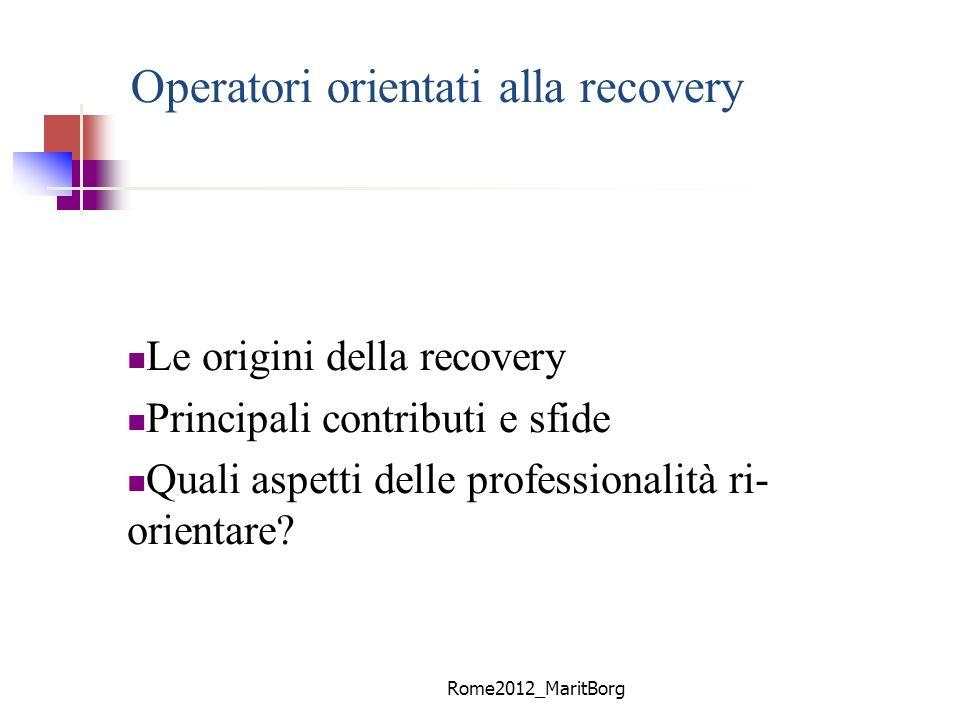 Operatori orientati alla recovery