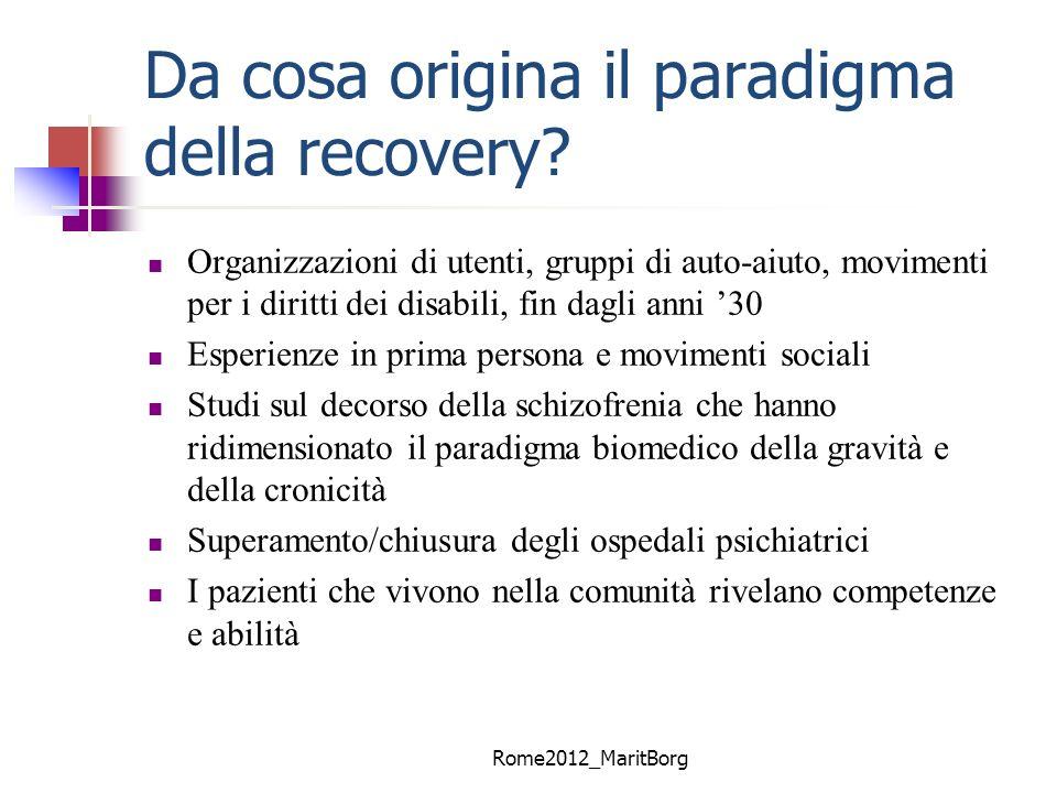 Da cosa origina il paradigma della recovery