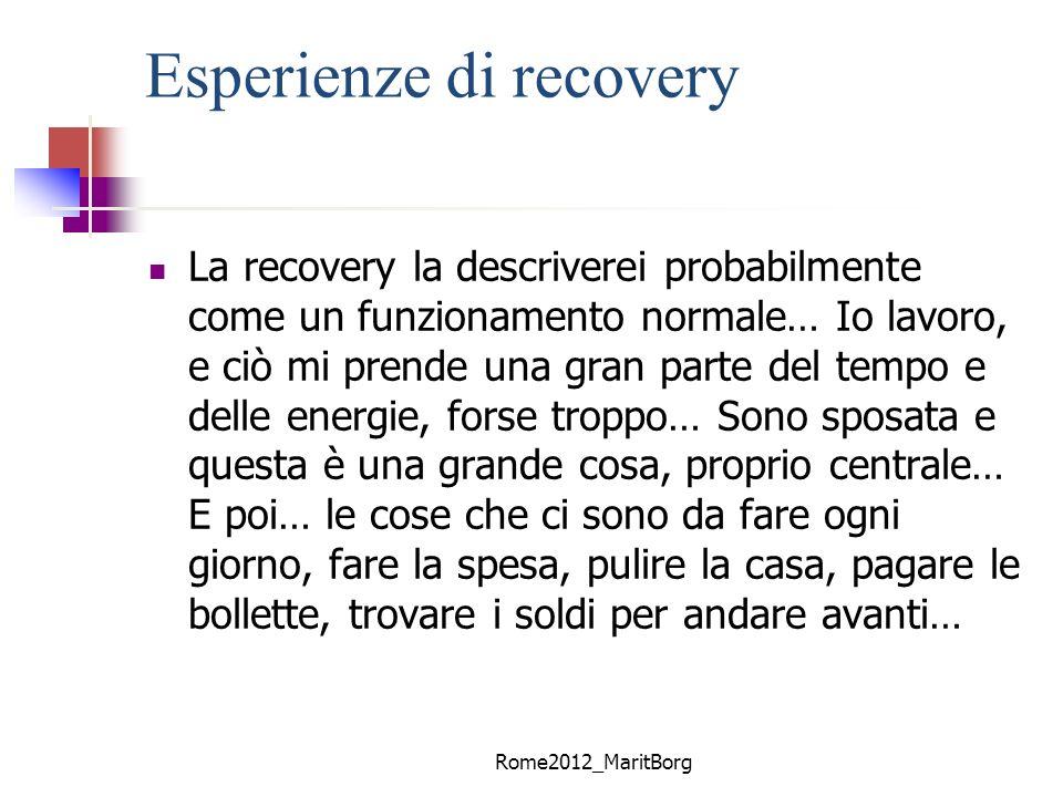 Esperienze di recovery