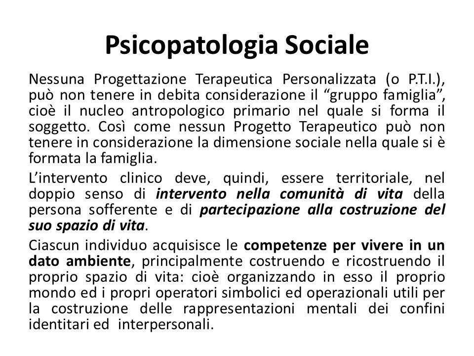Psicopatologia Sociale