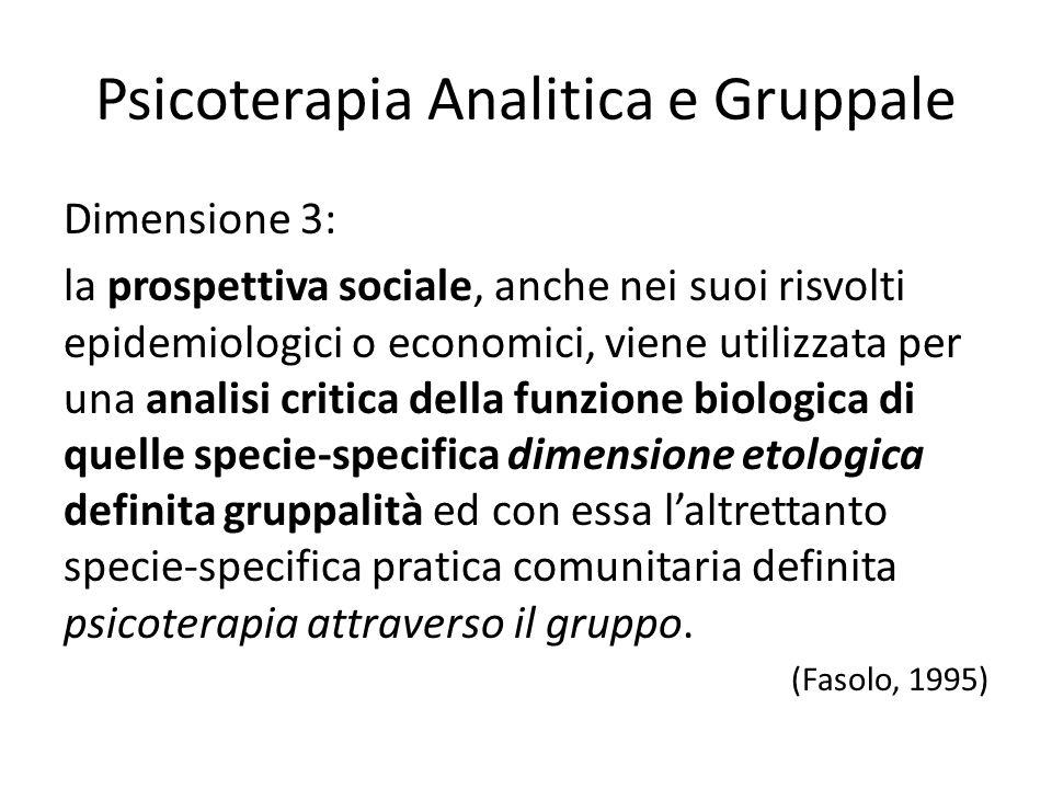 Psicoterapia Analitica e Gruppale