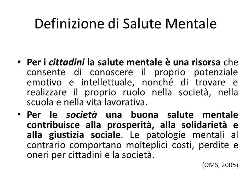 Definizione di Salute Mentale