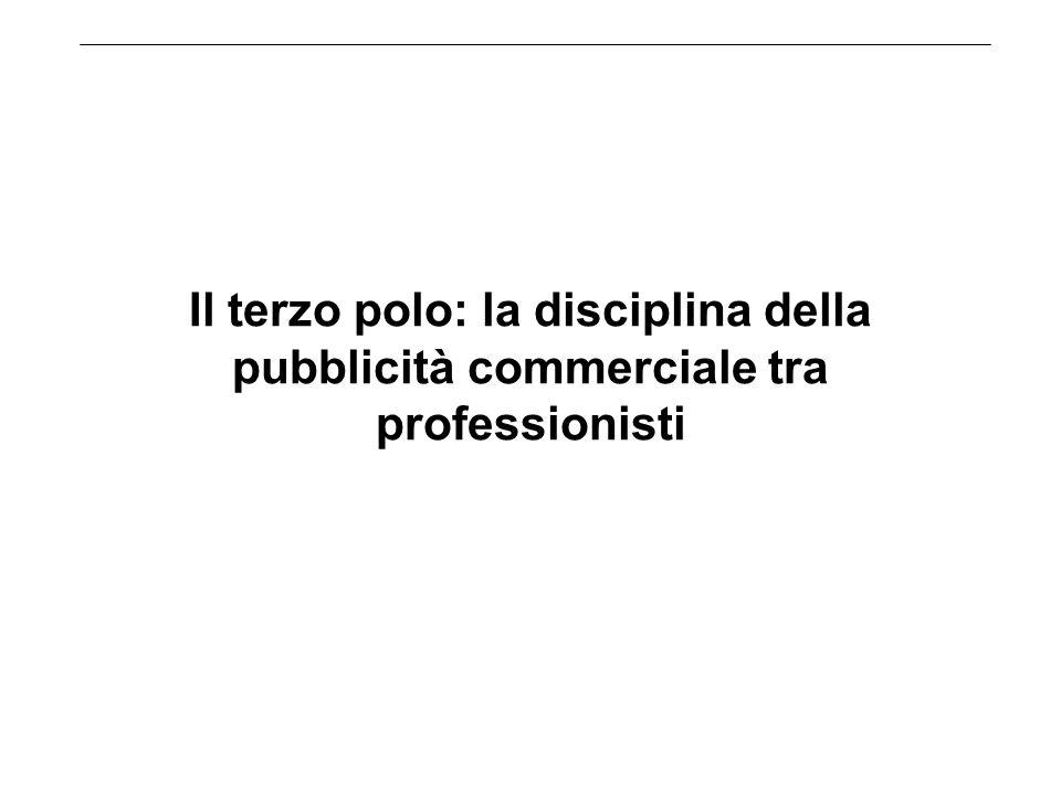 Il terzo polo: la disciplina della pubblicità commerciale tra professionisti
