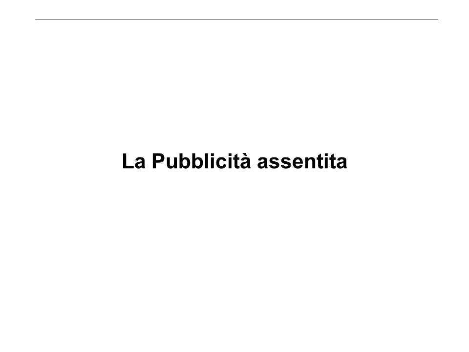 La Pubblicità assentita