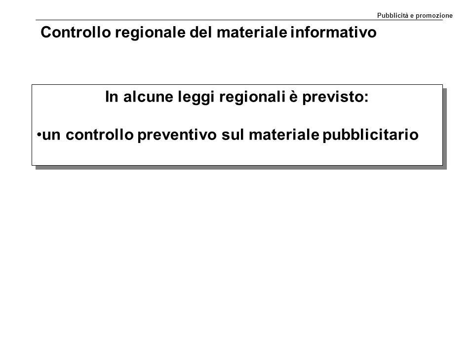 Controllo regionale del materiale informativo
