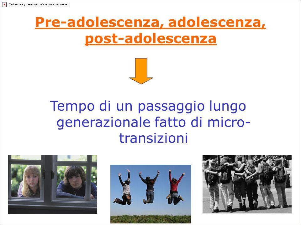 Pre-adolescenza, adolescenza, post-adolescenza