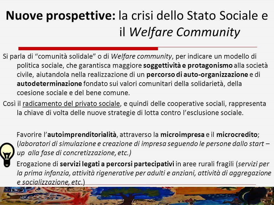 Nuove prospettive: la crisi dello Stato Sociale e il Welfare Community