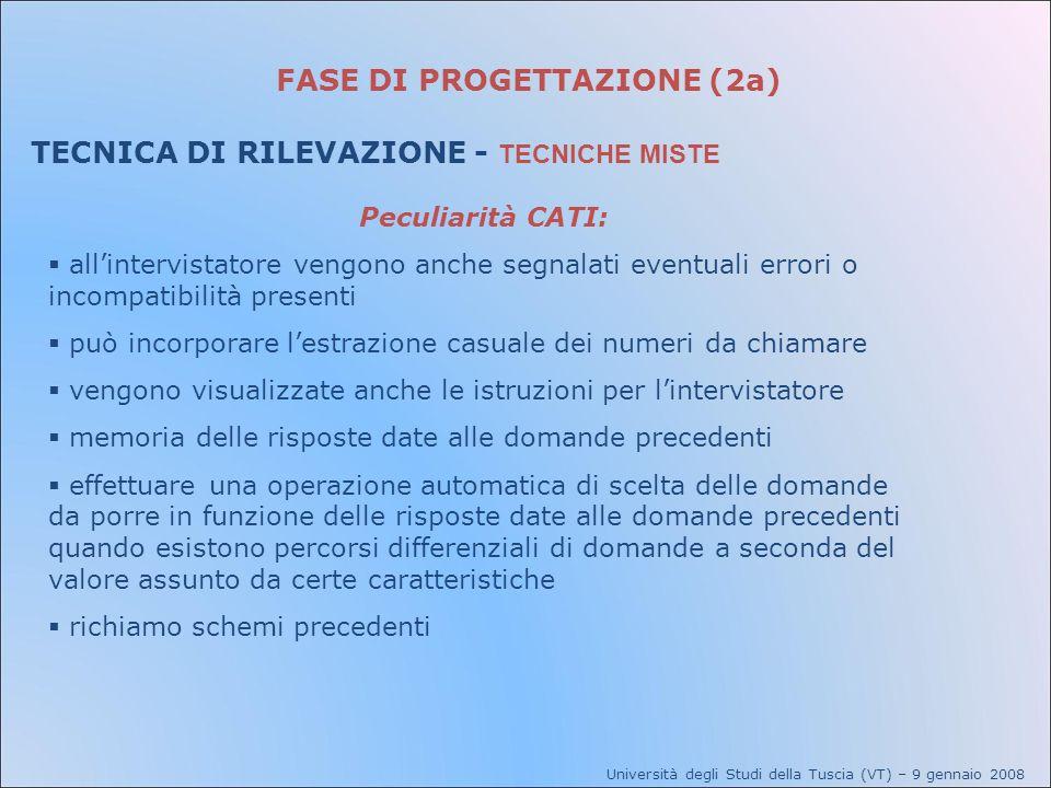FASE DI PROGETTAZIONE (2a)