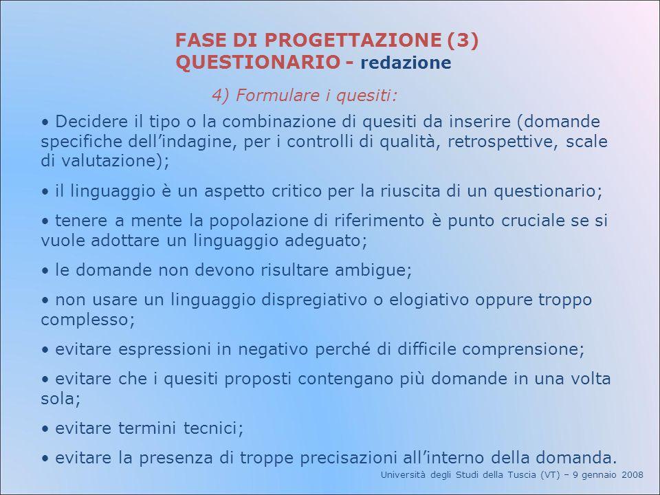 FASE DI PROGETTAZIONE (3)