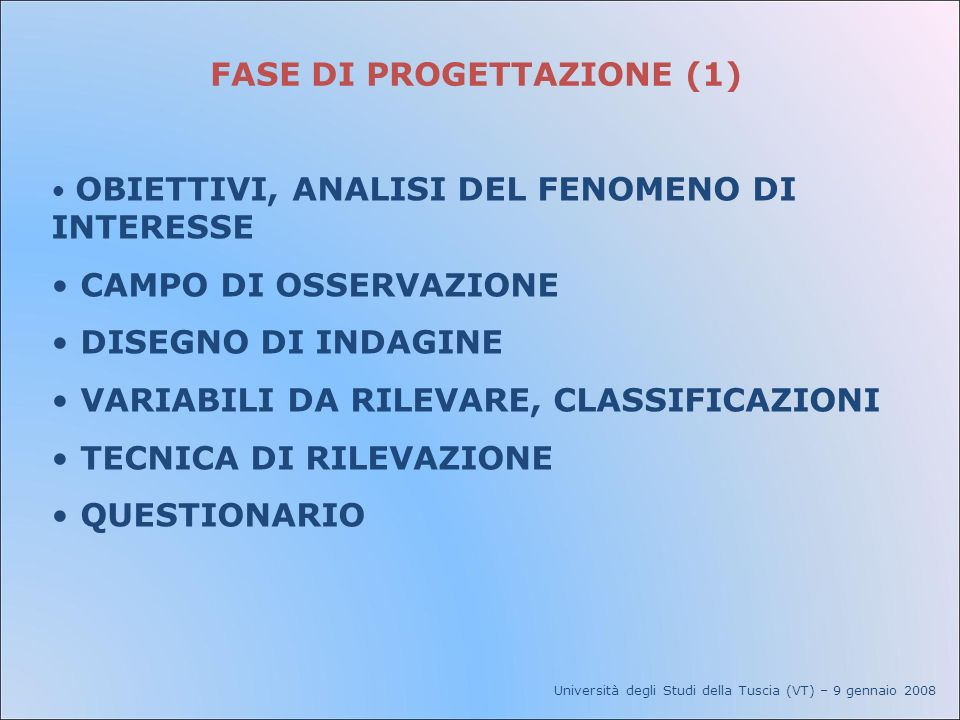 FASE DI PROGETTAZIONE (1)