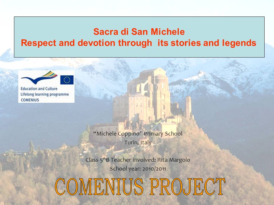 COMENIUS PROJECT Sacra di San Michele