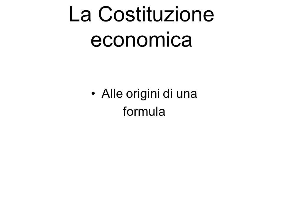 La Costituzione economica