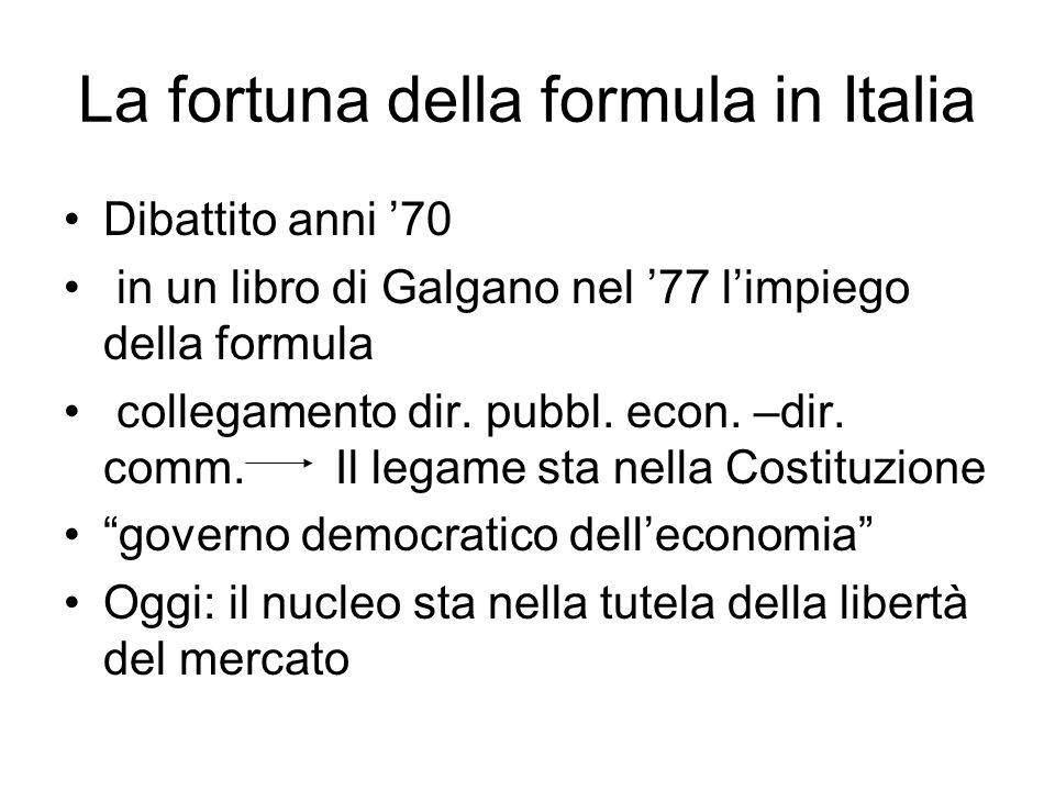 La fortuna della formula in Italia