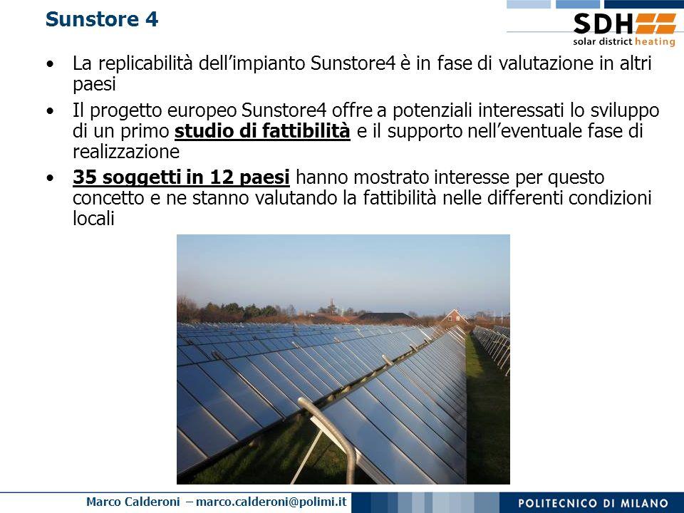 Sunstore 4 La replicabilità dell'impianto Sunstore4 è in fase di valutazione in altri paesi.