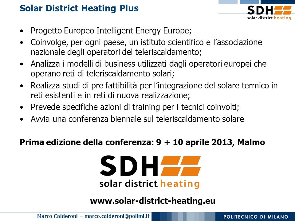 Solar District Heating Plus