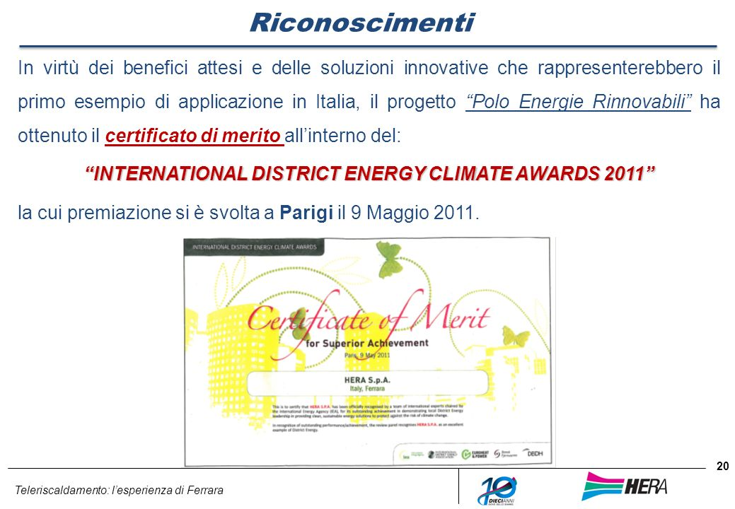INTERNATIONAL DISTRICT ENERGY CLIMATE AWARDS 2011