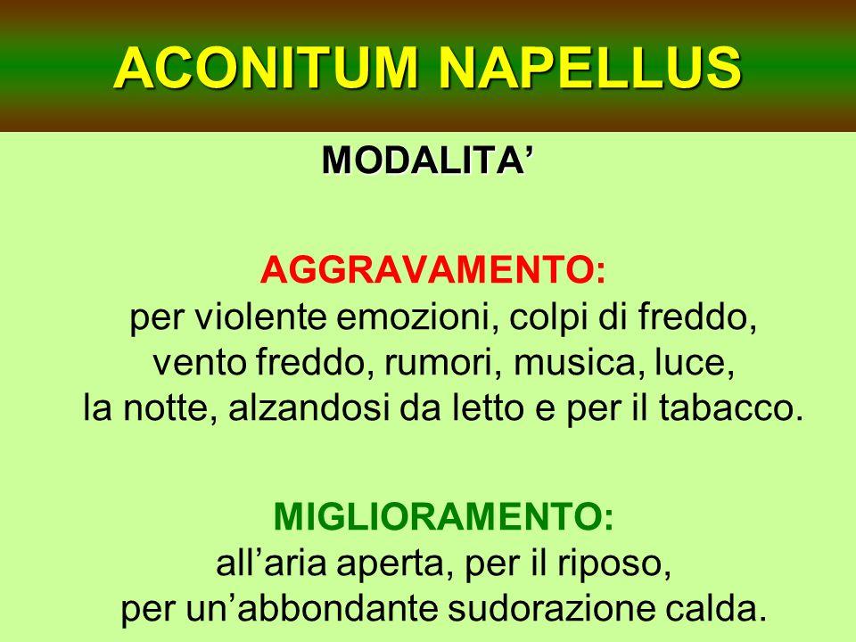 ACONITUM NAPELLUS MODALITA'