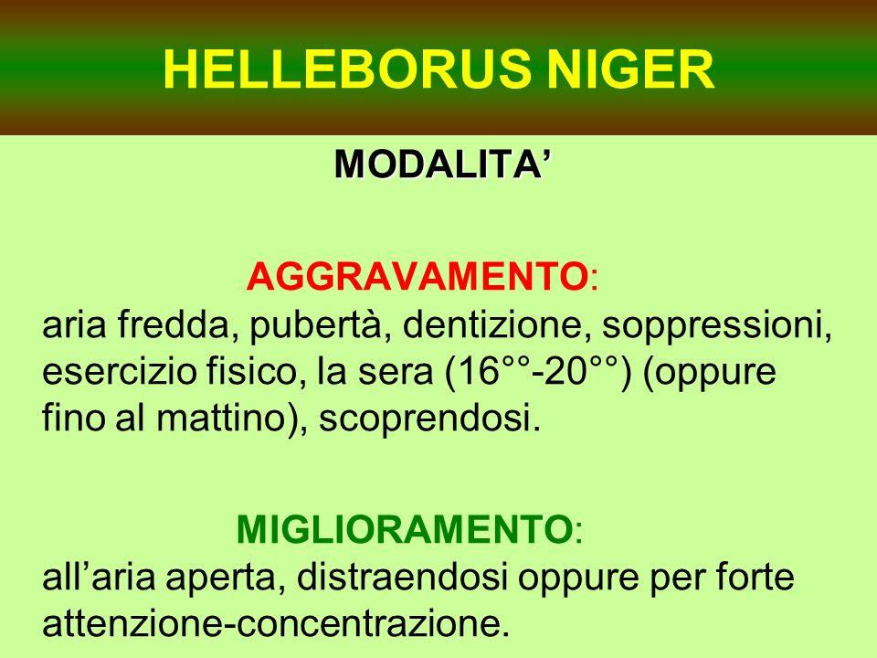 HELLEBORUS NIGER MODALITA'