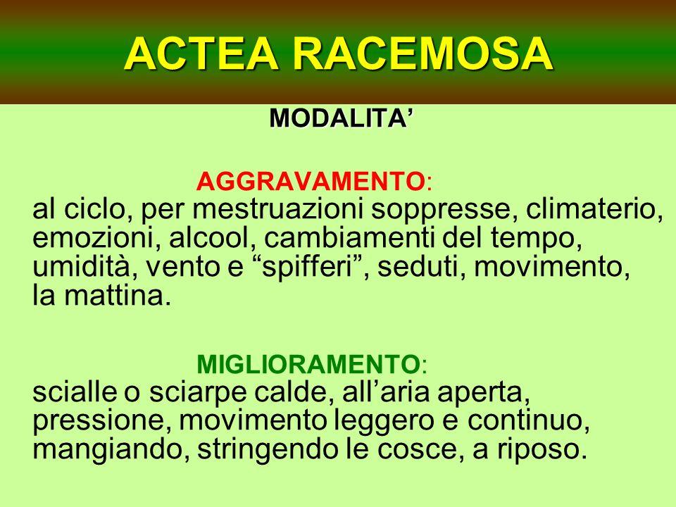 ACTEA RACEMOSA MODALITA'