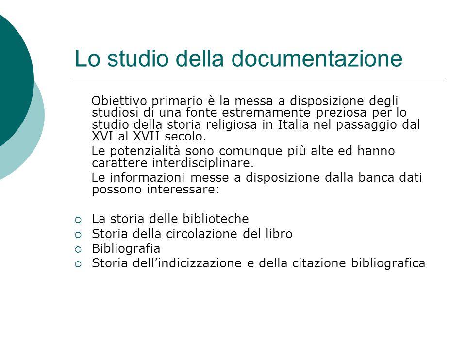 Lo studio della documentazione