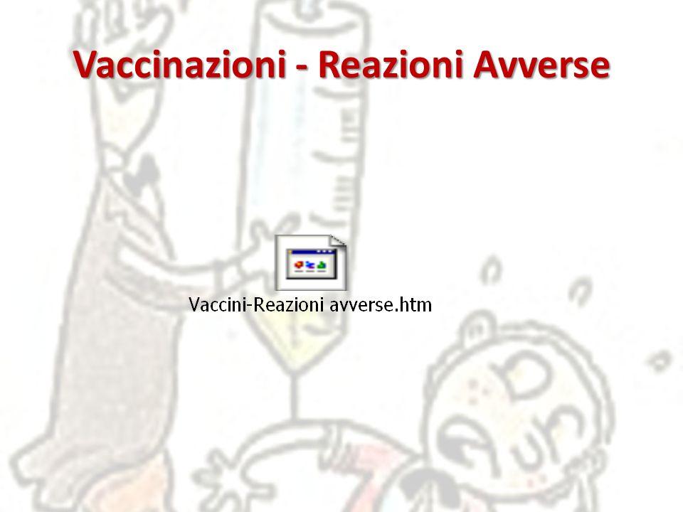 Vaccinazioni - Reazioni Avverse