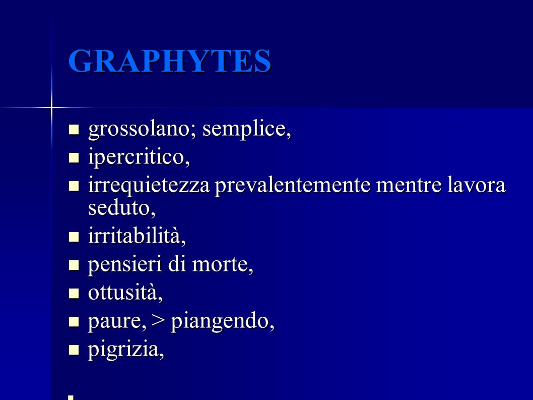 GRAPHYTES grossolano; semplice, ipercritico,