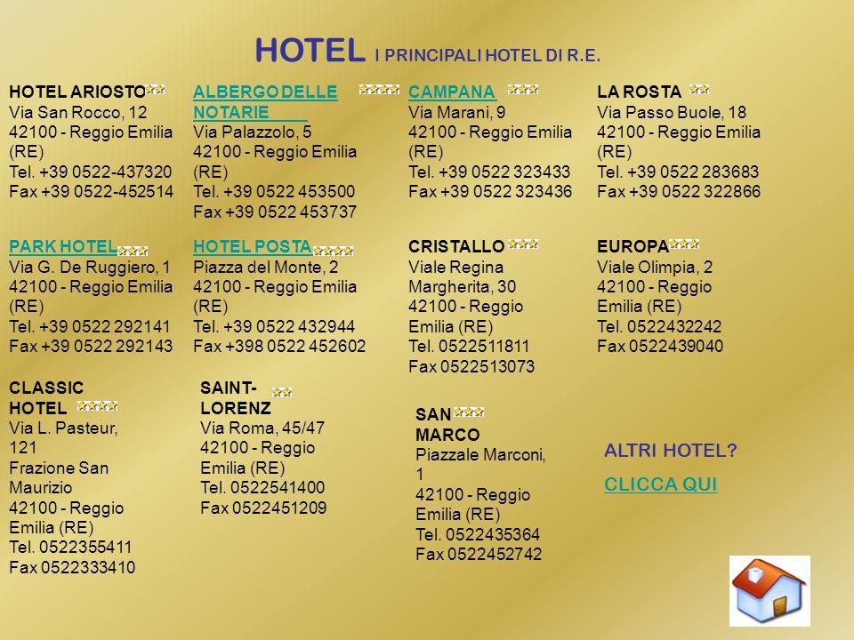 HOTEL I PRINCIPALI HOTEL DI R.E.