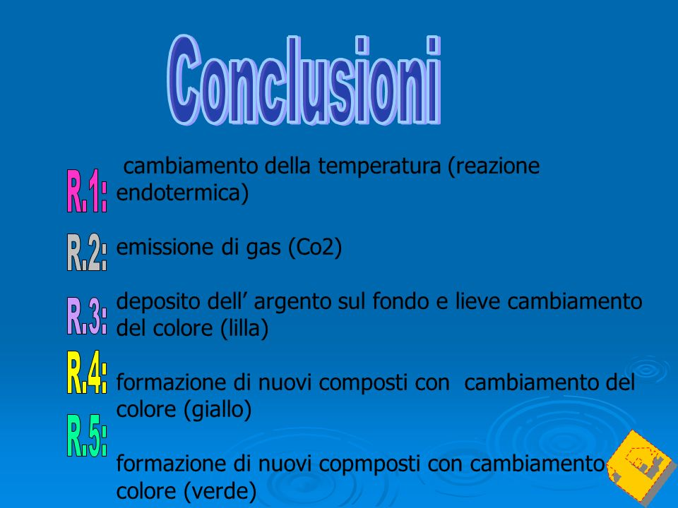 cambiamento della temperatura (reazione endotermica)