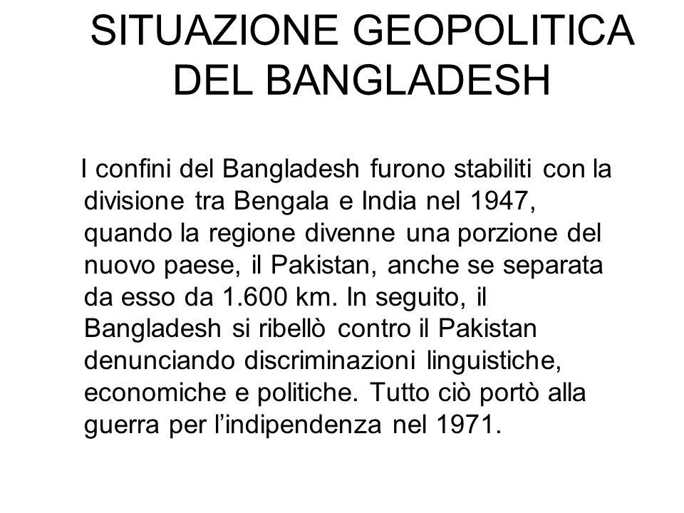 SITUAZIONE GEOPOLITICA DEL BANGLADESH