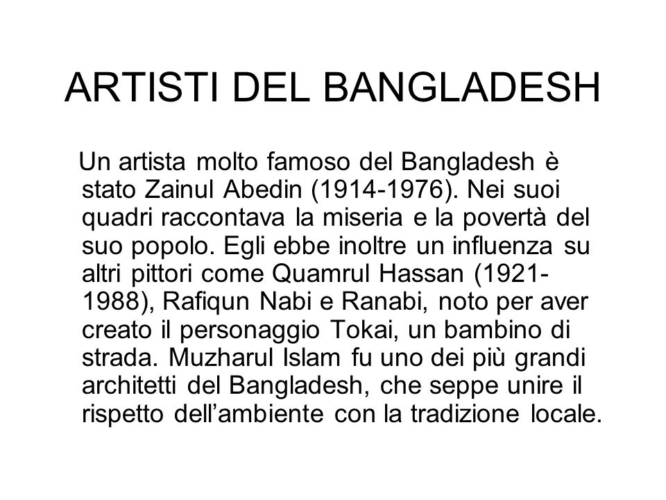ARTISTI DEL BANGLADESH