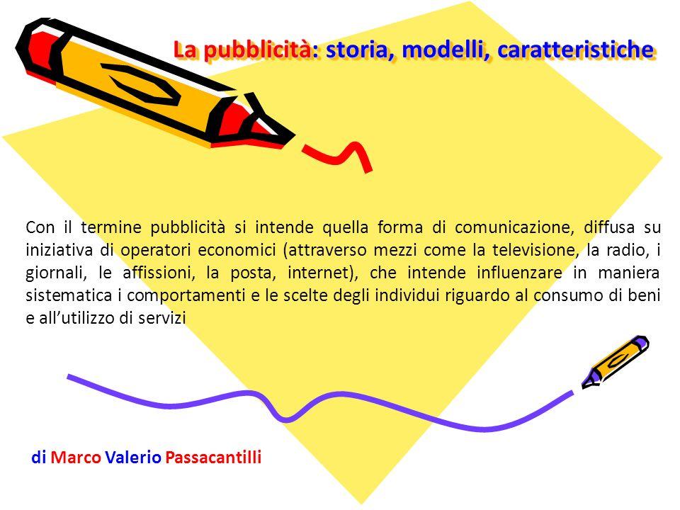 La pubblicità: storia, modelli, caratteristiche