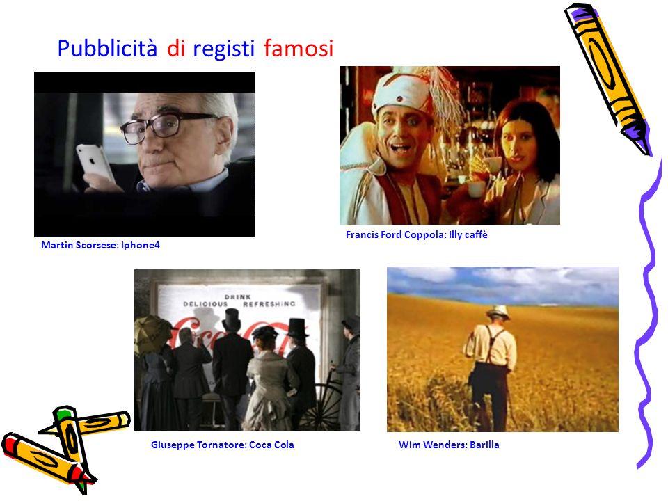 Pubblicità di registi famosi