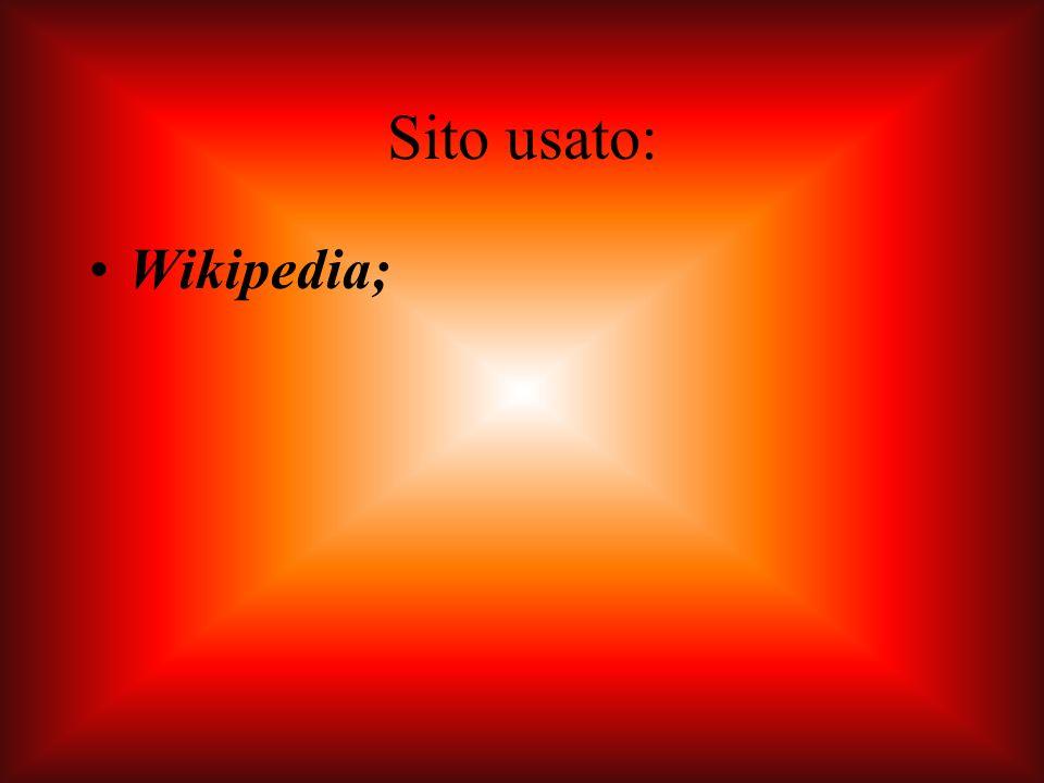 Sito usato: Wikipedia;
