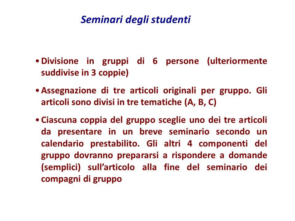 Seminari degli studenti