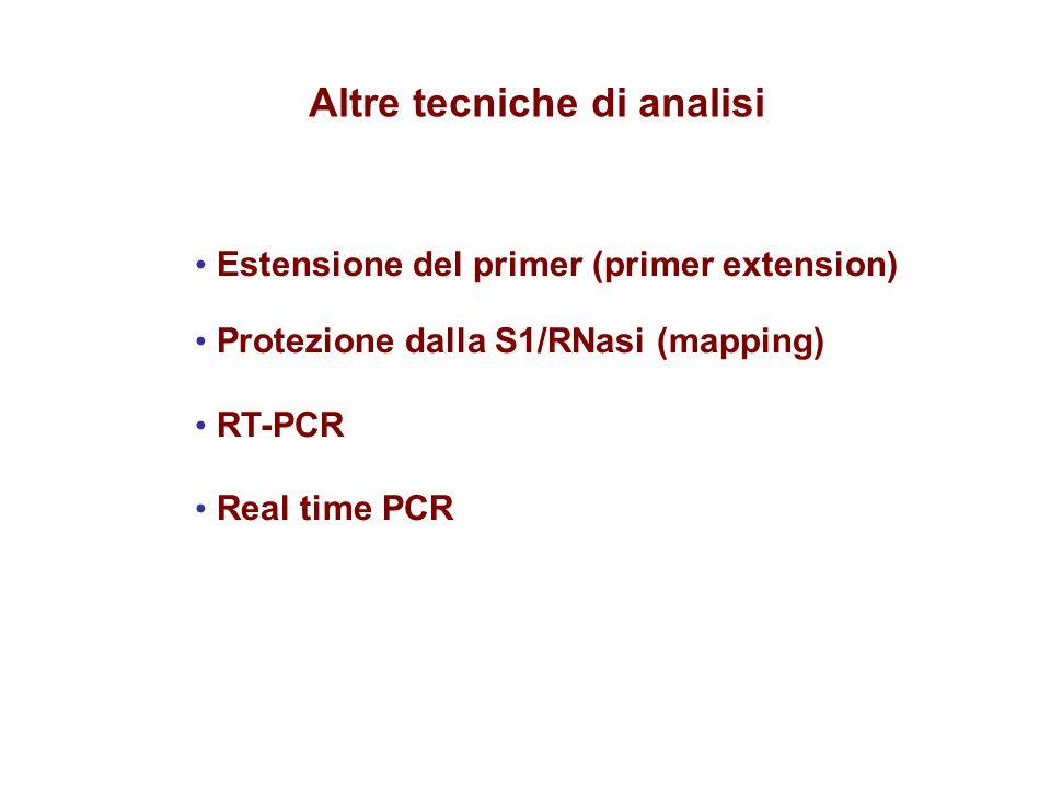 Altre tecniche di analisi