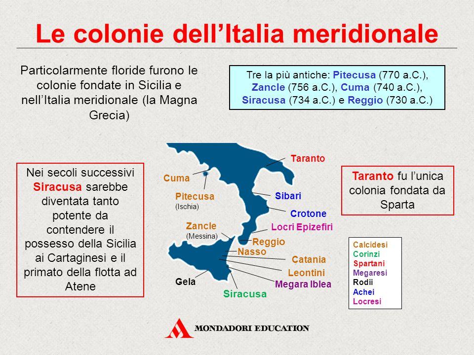 Le colonie dell'Italia meridionale