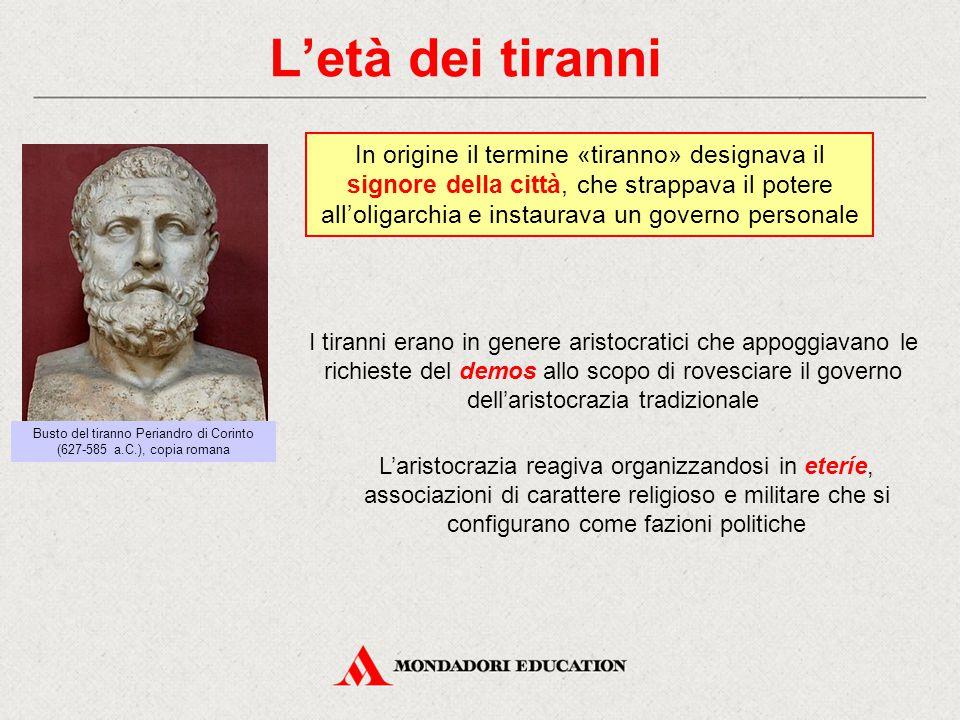 Busto del tiranno Periandro di Corinto (627-585 a.C.), copia romana