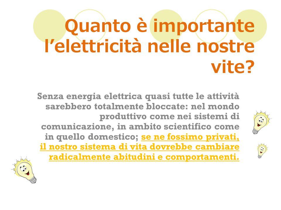 Quanto è importante l'elettricità nelle nostre vite