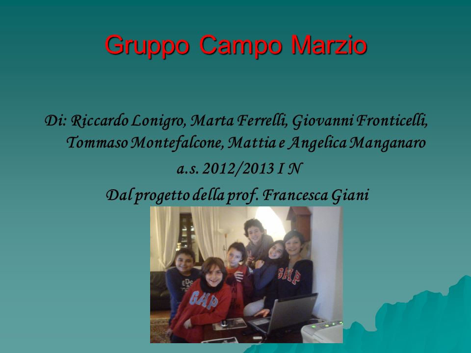 Dal progetto della prof. Francesca Giani