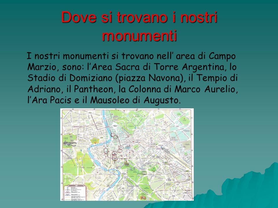 Dove si trovano i nostri monumenti