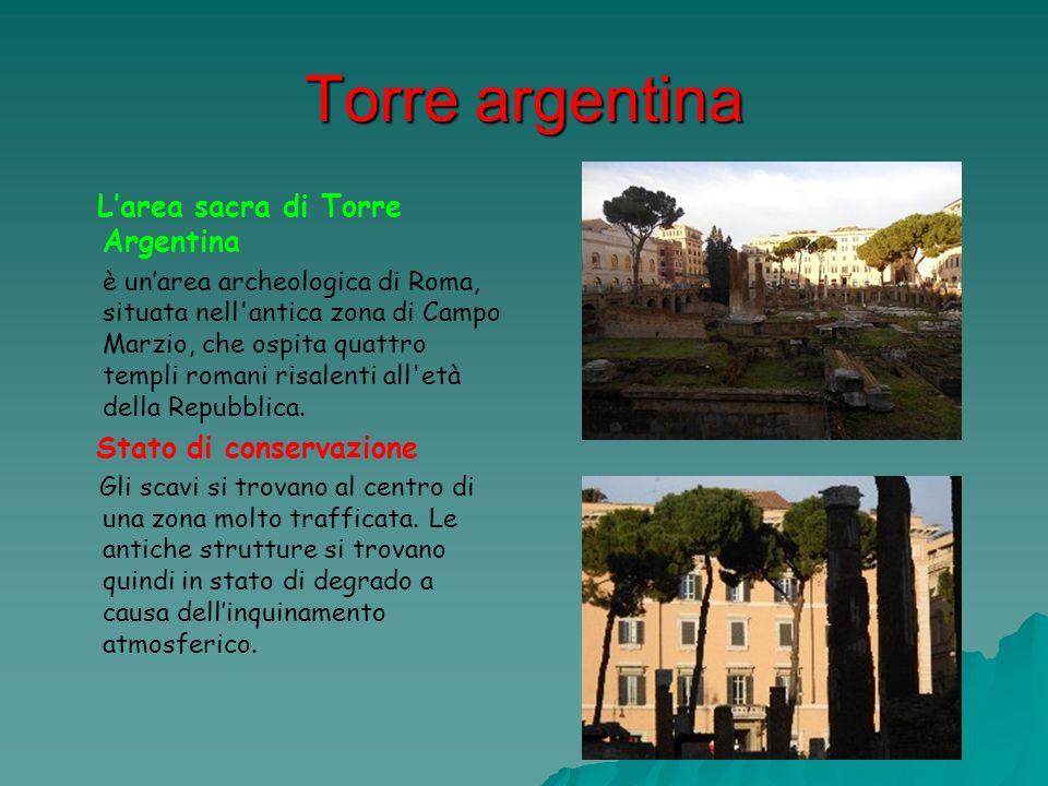 Torre argentina Stato di conservazione L'area sacra di Torre Argentina