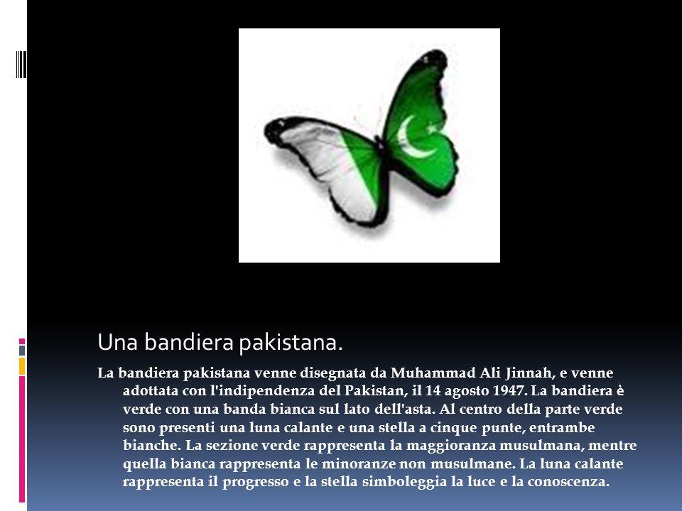 Una bandiera pakistana.