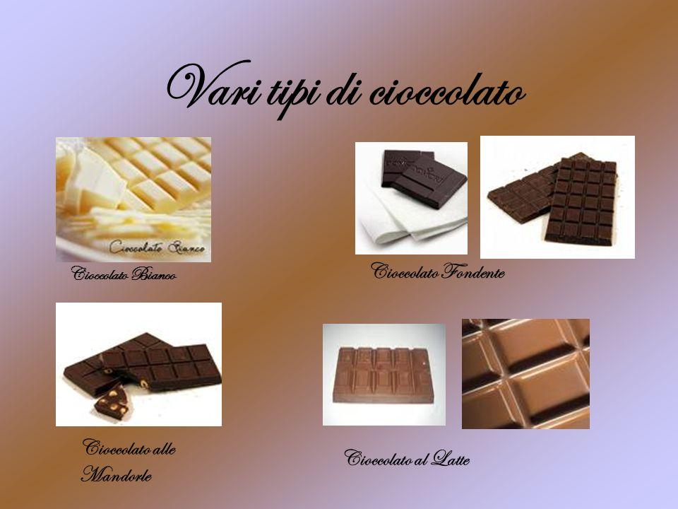 Vari tipi di cioccolato