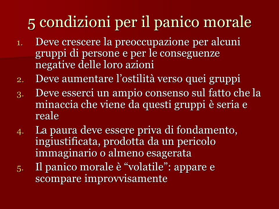 5 condizioni per il panico morale