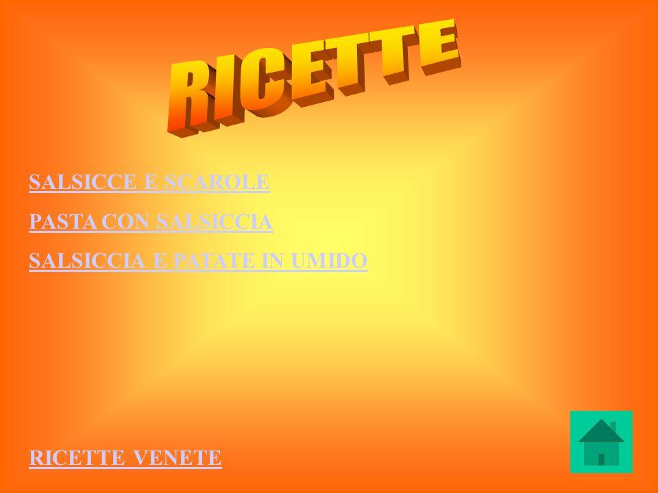 RICETTE SALSICCE E SCAROLE PASTA CON SALSICCIA