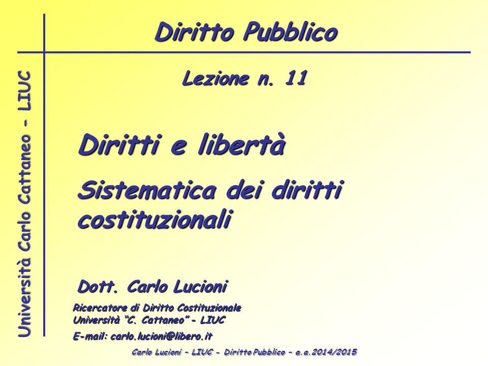 Diritti e libertà Diritto Pubblico