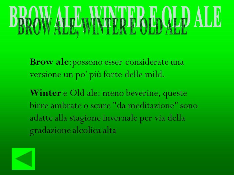 BROW ALE, WINTER E OLD ALE