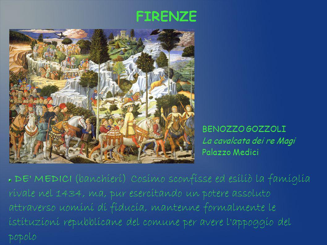 FIRENZE BENOZZO GOZZOLI La cavalcata dei re Magi Palazzo Medici.