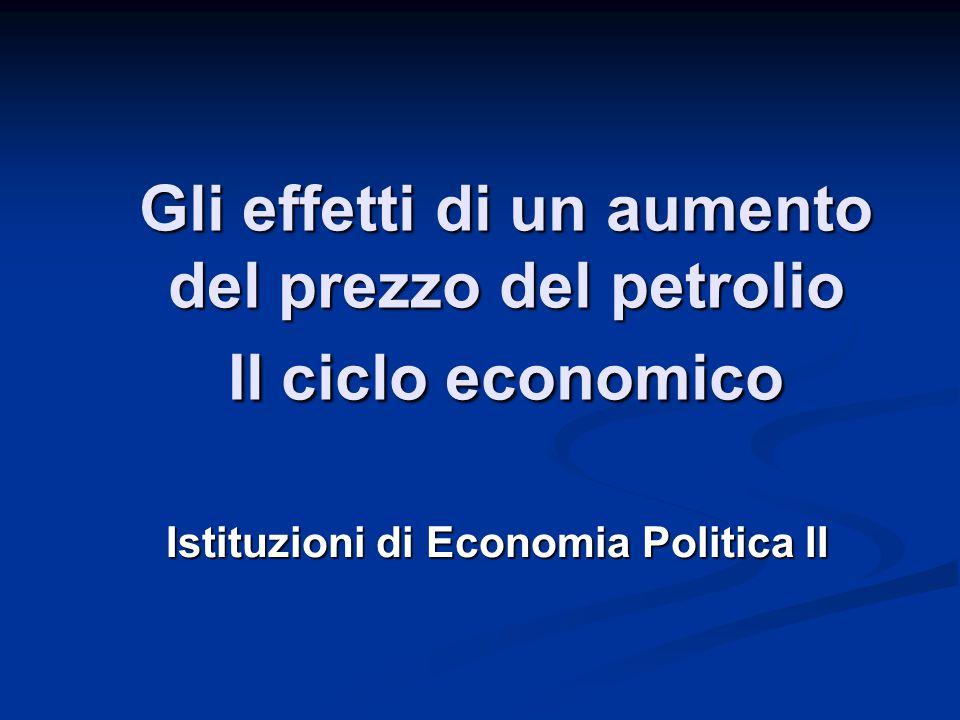 Gli effetti di un aumento del prezzo del petrolio Il ciclo economico